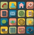 flat communication icons vector image vector image