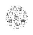 flower shop logo design vector image