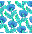 Garden blue flowers isolated on white Seamless vector image vector image