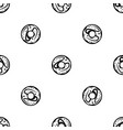 glazed donut pattern seamless black vector image vector image