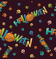 halloween bright seamless pattern colorful vector image vector image
