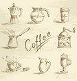 Hand drawn coffee sketch vector image vector image