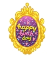 Happy Birthday card with a lettering in frame vector image
