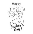 Happy father day hand draw doodle