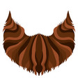 hipster beard icon vector image vector image