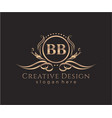 initial bb beauty monogram and elegant logo design