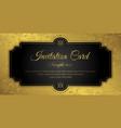 invitation card design - luxury style vector image vector image
