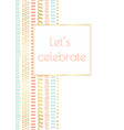 let us celebrate invitation doodle card vector image vector image