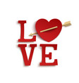 Love Paper style hand lettering vector image vector image