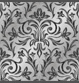 luxurious damask pattern ornament decor baroque vector image vector image