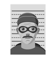 Man arrested icon gray monochrome style vector image