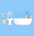 modern bathroom interior design icon vector image