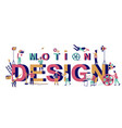 motion design typography banner template vector image vector image