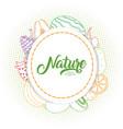 nature fruits frame vector image