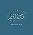 new year mouse logo vector image vector image