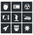 North Korea icons vector image vector image