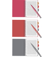 notebook and pen set vector image