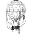 old air balloon vector image vector image