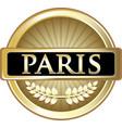 paris gold icon vector image vector image