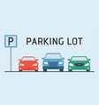 parking concept in flat style over blue background vector image