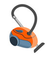 red vacuum cleaner icon cartoon style vector image