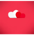 Red Valentines Day background with heart vector image vector image