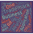 registered trademark text background wordcloud vector image vector image