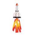 rocket space ship cartoon on vector image vector image