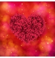 Romantic card design of a red floral heart vector image vector image