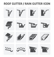 roof gutter icon vector image vector image