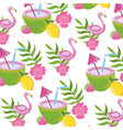 seamless floral pattern cartoon vector image