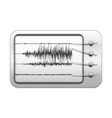 seismograph recording seismic activity vector image vector image