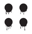 set black liquid round frames vector image