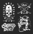 set skateboarding emblems vector image vector image