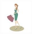 Shopping pregnant girl vector image