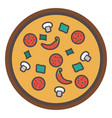 slice of pizza - fast italian food icon vector image