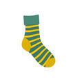 striped sock icon flat style vector image vector image