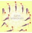 Surya Namaskara vector image vector image