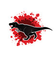 T rex dinosaur graphic vector image