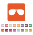 The sunglasses icon Glasses symbol Flat vector image