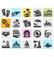 travel logo design template beach rest vector image