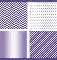 ultra violet seamless patterns chevron striped vector image vector image