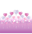 valentines day light blue and pink balloons on vector image