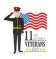 veterans day patriotic celebration of military vector image