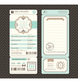 Vintage style Boarding Pass Wedding Invitatation vector image vector image