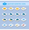 Weather isometric icons vector image vector image
