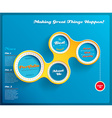 Web design template with circles on blue vector image vector image