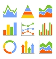 Graph and Charts Diagrams Infographic Set vector image