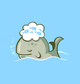 sleeping whale vector image