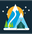 mountain mature silhouette vector image